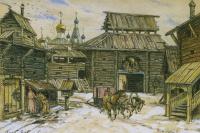 Аполлинарий Михайлович Васнецов. Старая Москва. У стен деревянного города