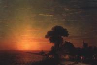 The sunset in the Ukraine