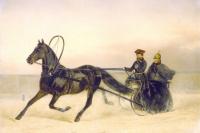 Nicholas I in a sleigh