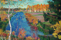 Аркадий Александрович Рылов. Осень на реке Тосне