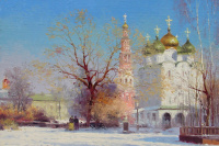 View of the Smolensk Cathedral of the Novodevichy Monastery