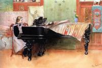 Карл Ларссон. Игра на рояле