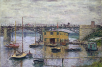 The bridge at Argenteuil grey day