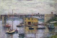 Мост в Аржантее в серый день