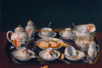 Still life with tea set