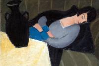 Роберт Берень. Спящая женщина с черной вазой