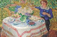 Александр Михайлович Герасимов. В саду. Портрет Нины Гиляровской