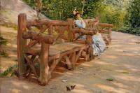 Праздный час на скамье в Центральном парке