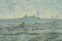 Винсент Ван Гог. Заснеженное поле с плугом (по мотивам Милле)