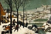 """Питер Брейгель Старший. Охотники на снегу. Цикл """"Сезоны"""", январь"""