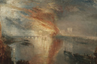 Joseph Mallord William Turner. A fire in the houses of Parliament on 16 October 1834