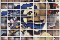 Дэвид Хокни. Натюрморт с голубой гитарой