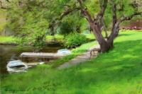 Уильям Меррит Чейз. Берег озера в Центральном парке