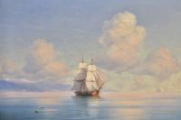 The ship off the coast