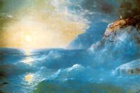 Иван Константинович Айвазовский. Наполеон на острове св. Елены