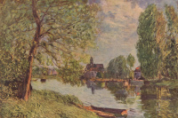 River landscape in the vicinity of Moret-sur-Loing