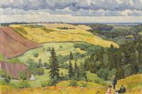 Пейзаж Новгородской губернии. 1910-е.