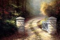Thomas Kincaid. Autumn gate