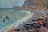 Etretat, the beach and the port of Amon