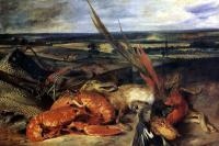 Натюрморт с омаром и охотничьими трофеями