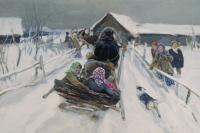 Алексей Степанович Степанов. Катание на Масленицу