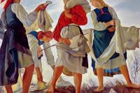 Zinaida Serebryakova. The bleaching of the canvas