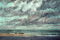 Gustave Courbet. Boat