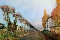 Alfred Sisley. The road to Louveciennes
