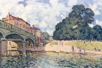 Alfred Sisley. Bridge at HAMPTON Court
