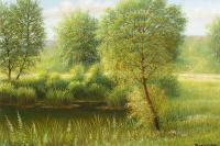Lake, willow