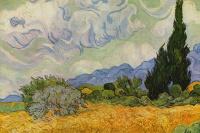 Винсент Ван Гог. Пшеничное поле с кипарисами (вариант)