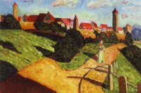Wassily Kandinsky. Old town II