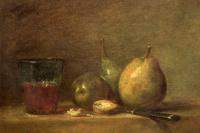 Жан Батист Симеон Шарден. Груши, грецкие орехи и стакан с вином