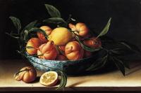Луиза Муайон. Натюрморт с миской апельсинов кюрасао.1634