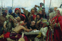 The Cossacks writing letter to Turkish Sultan. Option.