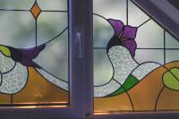 Витраж на протяжке, окно