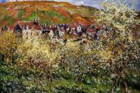 Клод Моне. Сливовые деревья в цвету в Ветёе