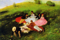 The may picnic (luncheon on the grass)