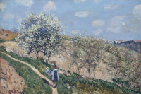 Альфред Сислей. Пейзаж (Весна в Буживале)