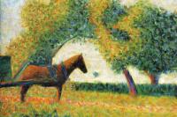 Жорж Сёра. Лошадь и телега