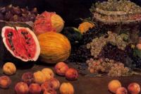 Сальвадор Диас Игнасио Руис де Олано. Натюрморт с фруктами.