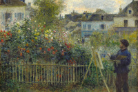 Claude Monet painting in his garden in Argenteuil