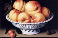 Натюрморт с персиками и сливами