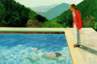 Portrait of the artist (Pool with two figures)