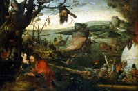 Landscape with the legend of Saint Christopher