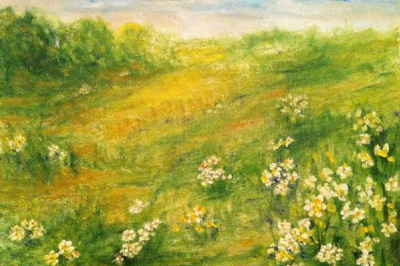 In the chamomile edge