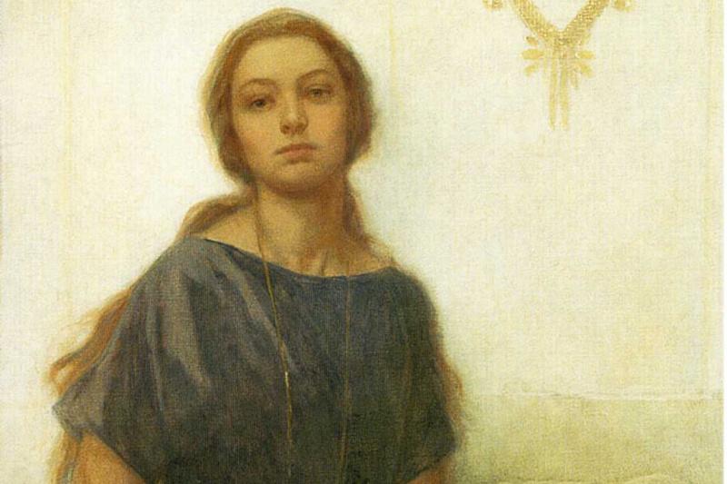 Alphonse Mucha. Portrait Of Jaroslava