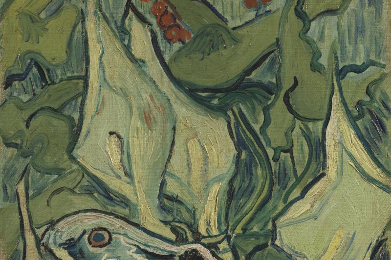 Vincent van Gogh. Big butterfly of Peacock eye