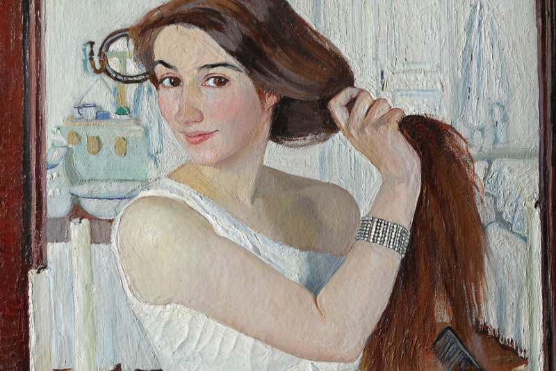Zinaida Serebryakova. At the Dressing-Table. Self-Portrait