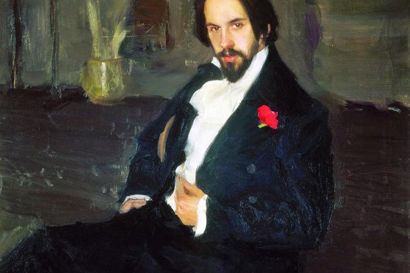 Boris Mikhailovich Kustodiev. Portrait Of Ivan Bilibin